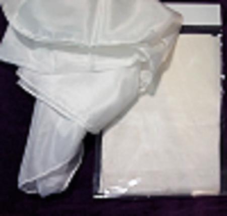 SEIDENTUCH Seidenschal 90x90cm Crepe de Chine 08 NEU reine Seide weiß